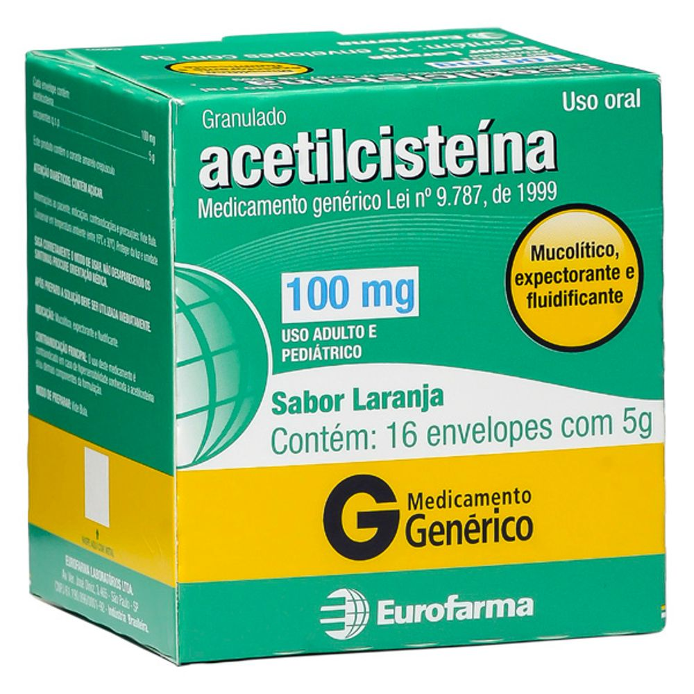 ACETILCISTEINA-100MG-5G-16ENV-EURO