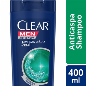 Shampoo-Anticaspa-Clear-Men-Limpeza-Diaria-2-Em-1-Com-400Ml