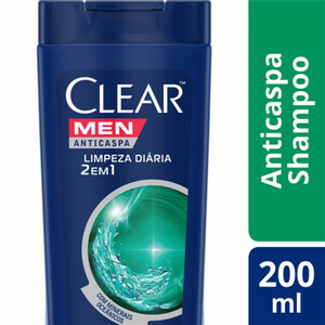 Shampoo-Clear-Men-Anticaspa-Limpeza-Diaria-2-Em-1-Com-200Ml