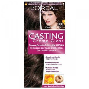 Tintura-Creme-Casting-Creme-Gloss-L-Oreal-Castanho-Claro-500--Oreal-Castanho-Claro-500-Kit