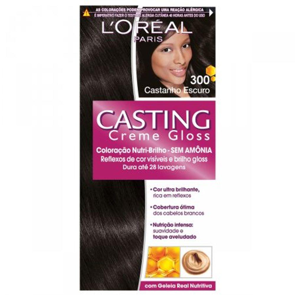 Tintura-Creme-Casting-Creme-Gloss-L-Oreal-Castanho-Escuro-300--Oreal-Castanho-Escuro-300-Kit