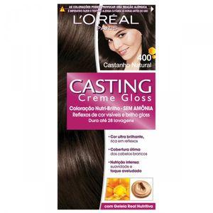 Tintura-Creme-Casting-Creme-Gloss-L-Oreal-Castanho-Natural-400--Oreal-Castanho-Natural-400-Kit