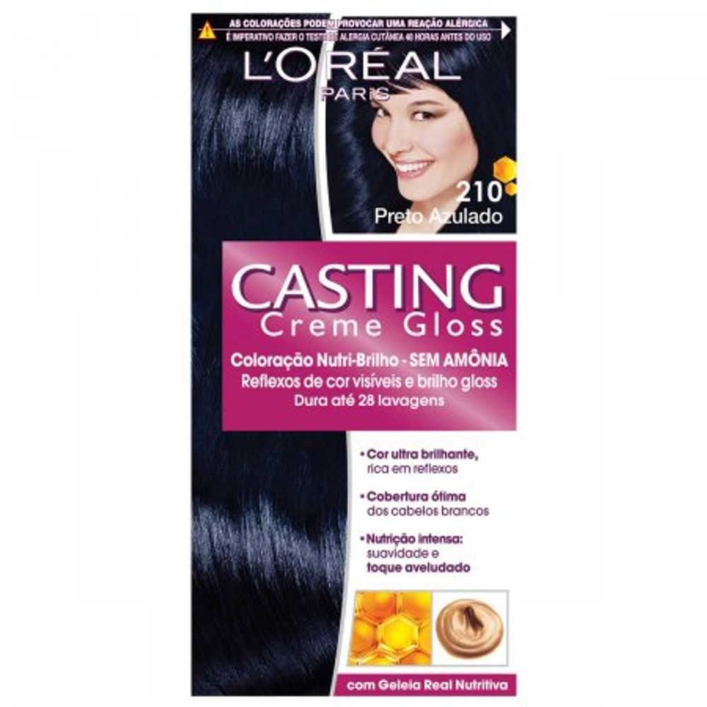 Tintura-Creme-Casting-Creme-Gloss-L-Oreal-Preto-Azulado-210--Oreal-Preto-Azulado-210-Kit