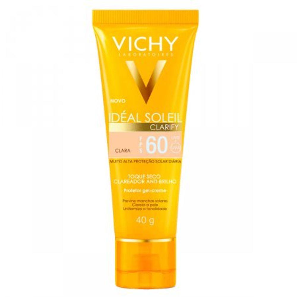 Protetor-Solar-Vichy-Ideal-Clarify-FPS60-Pele-Clara