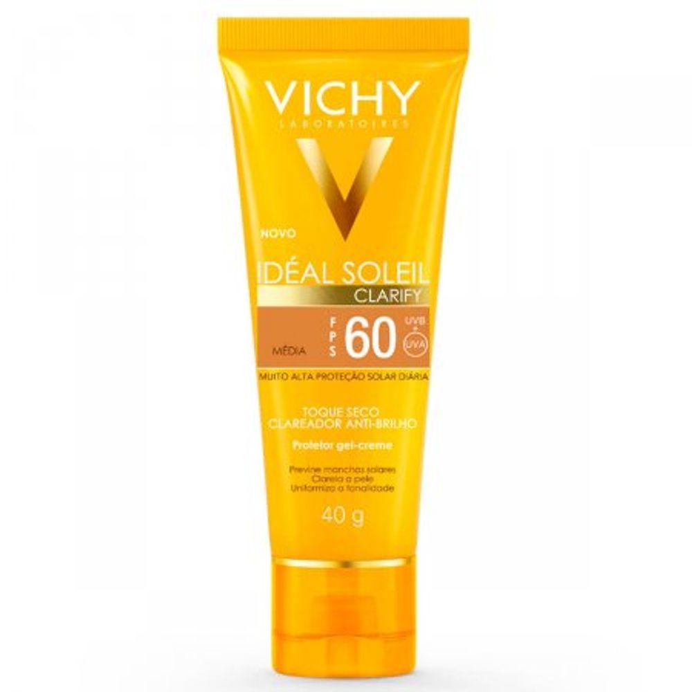 Protetor-Solar-Vichy-Ideial-Clarify-FPS60-Pele-Media