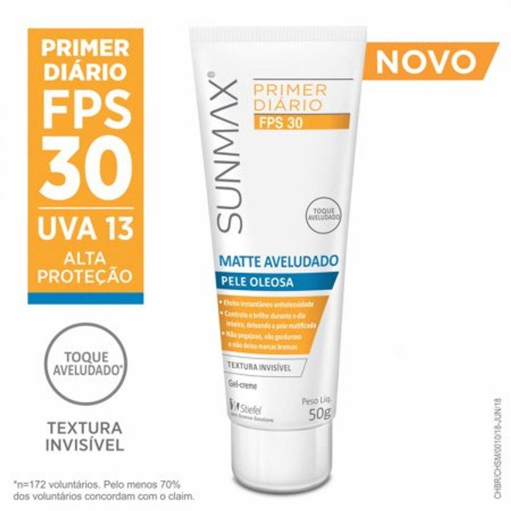 Protetor-Solar-Sunmax-Primer-Matte-Aveludado-FPS-30-Pele-Oleosa