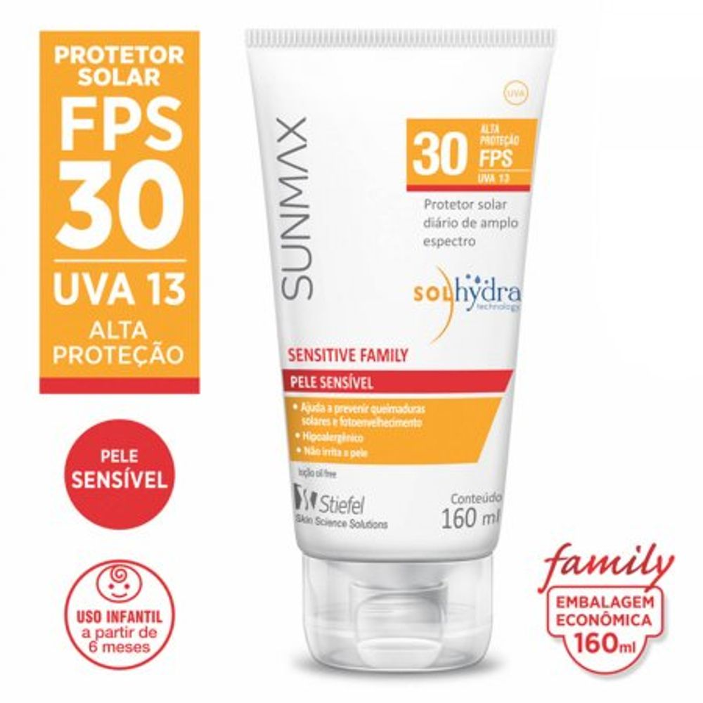 Protetor-Solar-Sunmax-Sensitive-Family-FPS-30