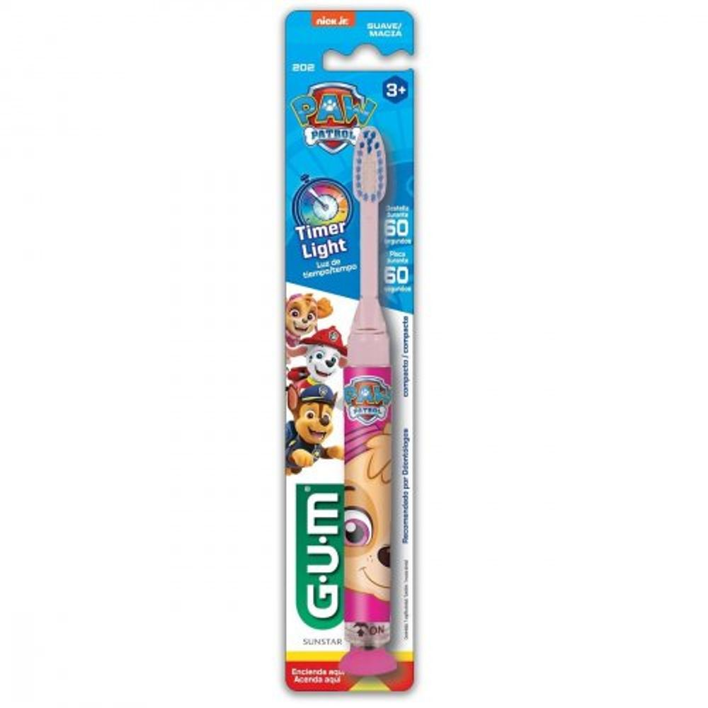 Escova-Infantil-Gum-Patrulha-Canina-Timer-Light