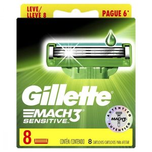 Laminas-para-Aparelho-de-Barbear-Gillette-Mach3-Sensitive