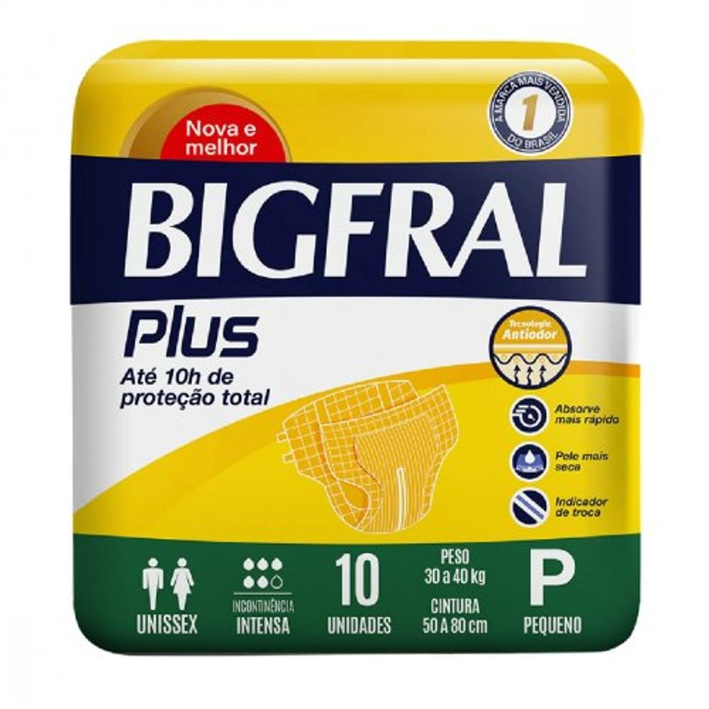 Fraldas-Para-Incontinencia-Bigfral-Plus-P-10-Unidades