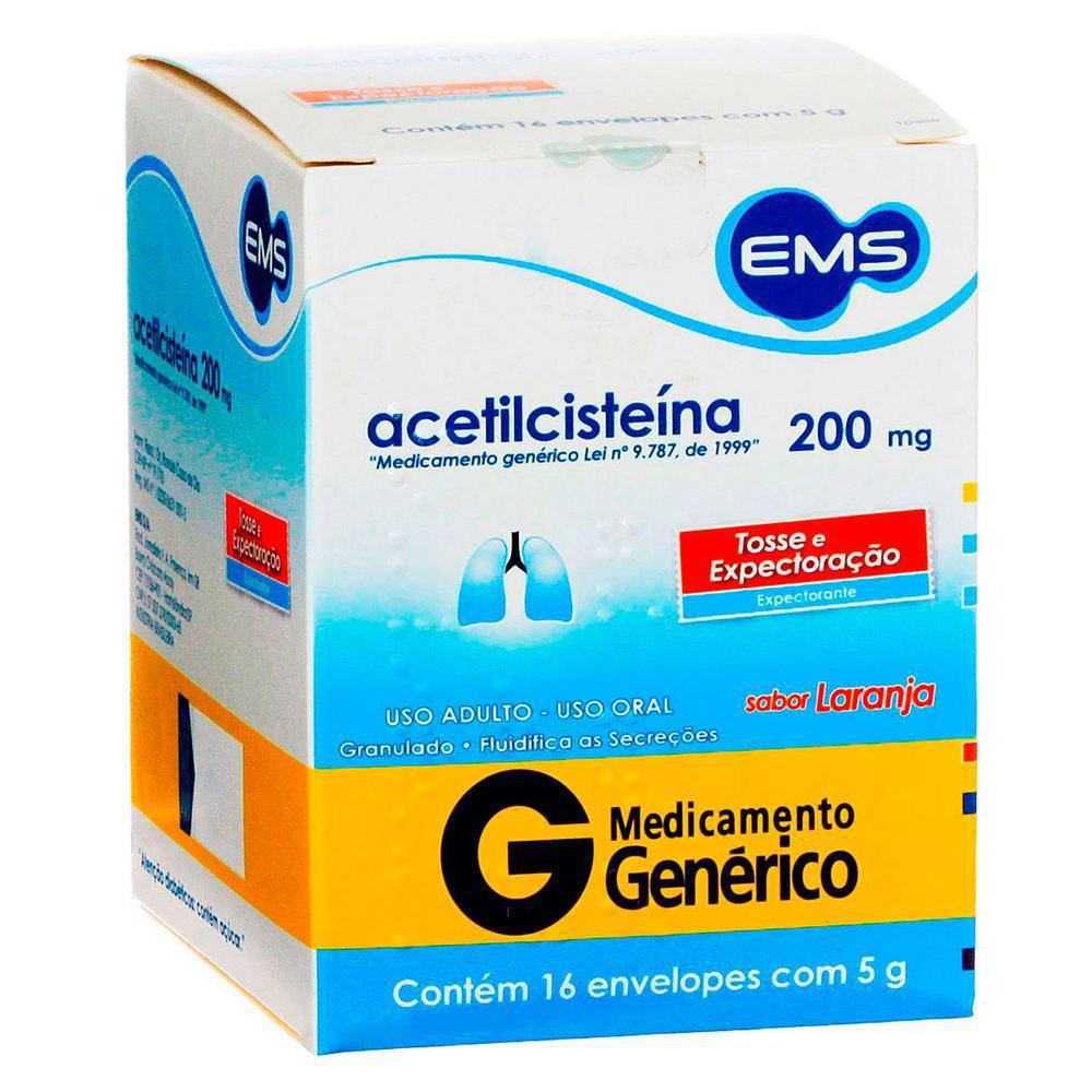 Acetilcisteina-EMS-200mg-caixa-com-16-envelopes-com-5g
