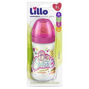 Mamadeira-Super-Divertida-Latex-Rosa-Be-Sweet-260ml-Lillo